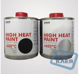 Biodur краска жаростойкая +600С 0,2л Серебристая (Биодур)