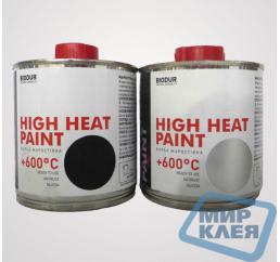 Biodur краска жаростойкая +600С 0,2л чёрная (Биодур)