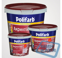 Акрилтикс Полифарб 14кг. интерьерная матовая краска для стен и потолков (Polifarb)