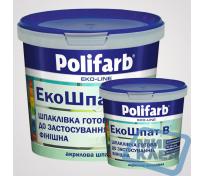 Экошпат 1,5кг финишная шпаклевка для стен и потолков Полифарб (Polifarb)