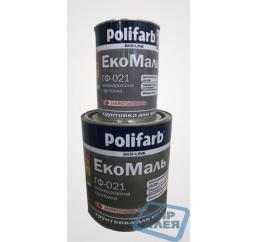 (Серый) Грунт антикоррозийный Экомаль Полифарб ГФ-021 2,7 кг
