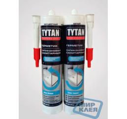 Герметик силиконовый санитарный Титан (Tytan) белый 310 мл.